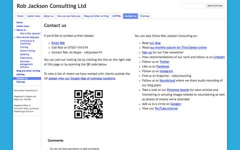 Screenshot of Contact Page google.com - Contact us - Rob Jackson Consulting Ltd - captured Aug. 14, 2016