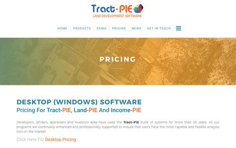 Screenshot of Pricing Page tract-pie.com - Residential Real Estate Software Price Comparison - captured Oct. 20, 2017