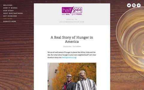 Screenshot of Blog gohalfsies.com - The Blog — Halfsies - captured Nov. 1, 2014