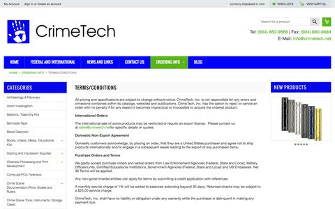 Screenshot of Terms Page crimetech.net - Terms/Conditions - captured Oct. 3, 2014