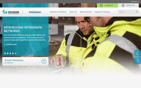 Screenshot of Home Page hexagonsafetyinfrastructure.com - Hexagon Safety & Infrastructure - captured June 28, 2016