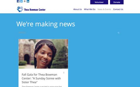 Screenshot of Blog theabowmancenter.org - Thea Bowman Center | Community Outreach Serving Mt. Pleasant | News & Events - captured Oct. 20, 2018
