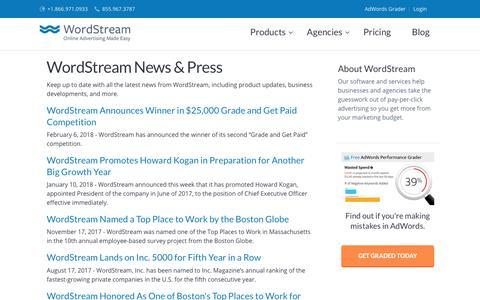 WordStream Press Releases - PPC & SEO Press Releases