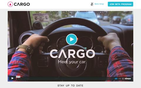 Screenshot of Home Page cargo.ai - Cargo - Meet your car - captured Oct. 1, 2014