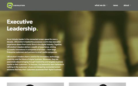 Screenshot of Team Page uievolution.com - Leadership | UIEvolution.com - captured Sept. 17, 2014