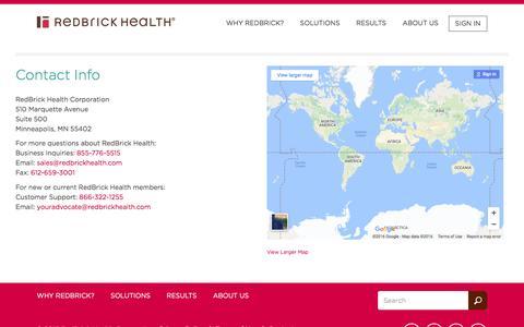 RedBrick Health – Contact Info
