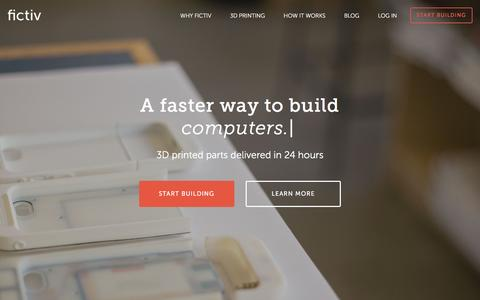 Screenshot of Home Page fictiv.com - Fictiv | A faster way to build hardware. - captured March 8, 2016