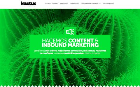 Screenshot of Home Page kactus.com.ar - Kactus Content Marketing - captured Feb. 12, 2016