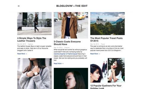 Screenshot of Blog bloglovin.com - Bloglovin'—the Edit - captured Dec. 21, 2015
