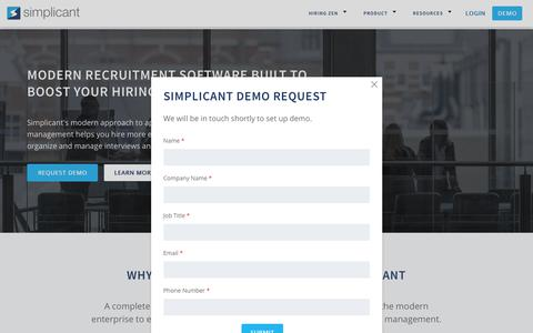 Home Page - Recruitment Software, Applicant Tracking System | Simplicant