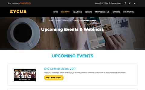 Events & Upcoming Webinars