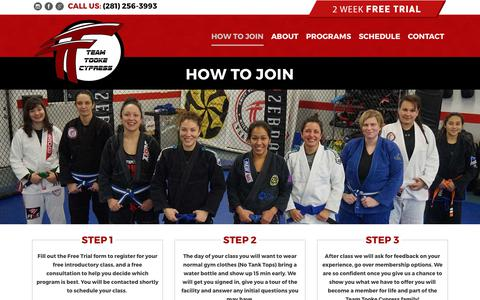 Screenshot of Signup Page teamtooke-cypress.com - How to Join – Team Tooke Cypress - captured Oct. 24, 2017