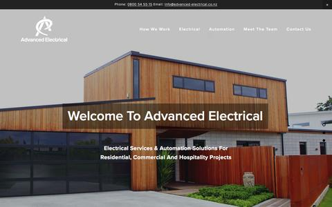 Screenshot of Home Page advanced-electrical.co.nz - Advanced Electrical - captured Jan. 27, 2017