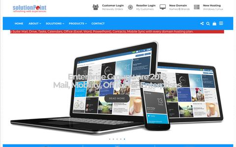 Screenshot of Home Page solutionpoint.in - Solution Point - Digital Products + Online Services Agency - captured Sept. 21, 2018