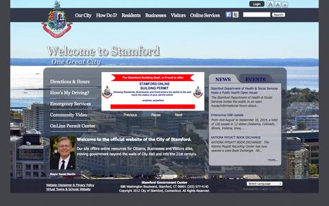 Screenshot of Press Page stamfordct.gov - Stamford CT | - captured Sept. 19, 2014