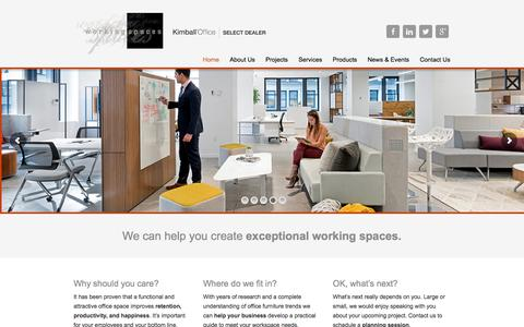 Screenshot of Home Page wspaces.com - Working Spaces - Working Spaces - captured Oct. 27, 2017