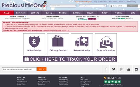 Screenshot of Contact Page preciouslittleone.com - PreciousLittleOne | Contact Us Questions Page - captured Dec. 23, 2016