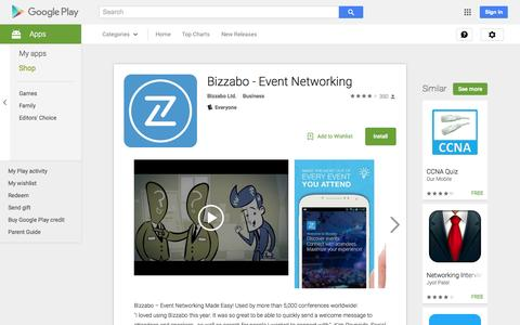 Screenshot of Android App Page google.com - Bizzabo - Event Networking - Android Apps on Google Play - captured Nov. 23, 2015