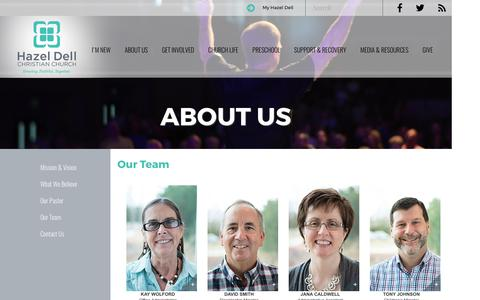 Screenshot of Team Page hdchristian.org - Our Staff | Hazel Dell Christian Church - captured June 23, 2016