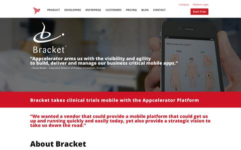 Screenshot of Case Studies Page appcelerator.com - Bracket Case Study | Appcelerator - captured Dec. 29, 2017
