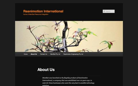 Screenshot of About Page manstat.com - About Us | Reanimotion International - captured Sept. 30, 2014