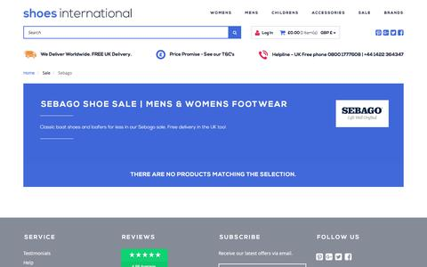 Screenshot of shoesinternational.co.uk - Shoe Sale | Mens & Womens Footwear | Shoes International - captured Aug. 9, 2017