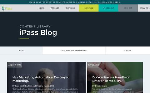 Screenshot of Blog ipass.com - Blog - iPass - captured Aug. 6, 2016