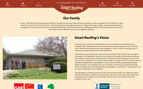 Screenshot of About Page smartroofingandsheetmetal.com - About – Smart Roofing - captured Oct. 22, 2017