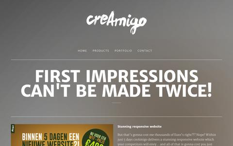 Screenshot of Products Page creamigo.nl - Products - creAmigo - Let's create some good stuff - captured Oct. 3, 2014