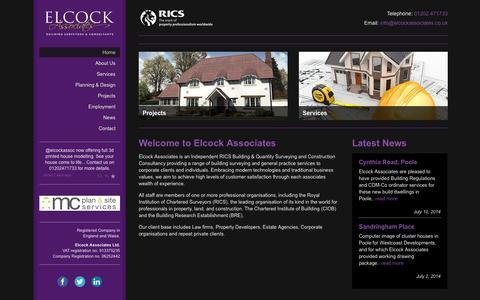 Screenshot of Home Page elcockassociates.co.uk - Home - Elcock Associates - captured Sept. 29, 2014