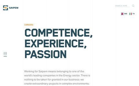 Screenshot of Jobs Page saipem.com - Careers | Saipem - captured Nov. 18, 2019