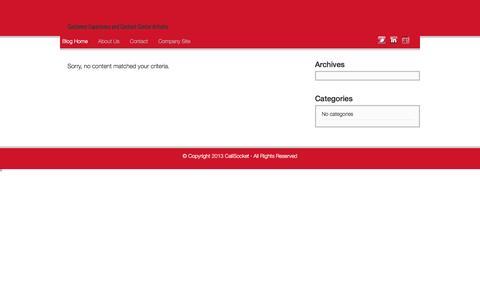 Screenshot of Blog callsocket.com - CallSocket Blog | Customer Experience and Contact Center Articles - captured Dec. 6, 2015
