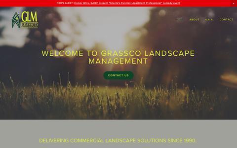 Screenshot of Home Page grassco.com - Grassco Landscape Management - captured Sept. 4, 2017