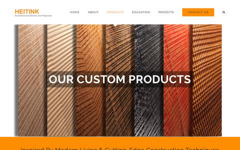 Screenshot of Products Page heitink.us - Products – Heitink Architectural Veneer and Plywood - captured Dec. 14, 2018