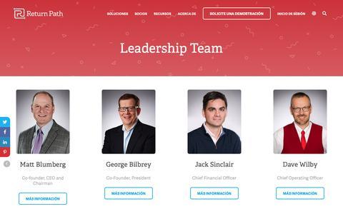 Screenshot of Team Page returnpath.com - Leadership Team   Return Path - captured Dec. 18, 2018
