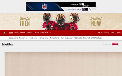 Screenshot of Press Page 49ers.com - 49ers News | San Francisco 49ers – 49ers.com - captured Sept. 20, 2018