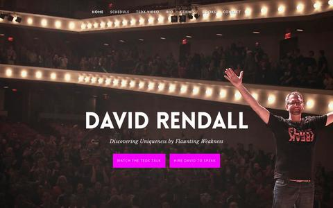 Screenshot of Home Page drendall.com - David Rendall - captured March 28, 2016