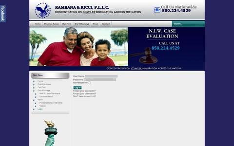 Screenshot of Login Page rambana.com - Login - captured Feb. 13, 2016