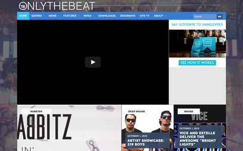 Screenshot of Home Page onlythebeat.com - OTB | Electronic Dance Music News and Free Downloads - captured Oct. 1, 2015