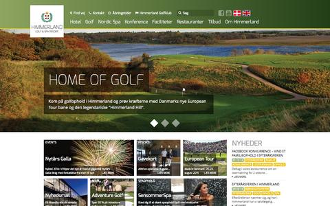 Screenshot of Home Page himmerlandgolf.dk - Forside » Himmerland Golf & Spa Resort - captured Oct. 2, 2014