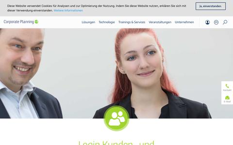 Screenshot of Login Page corporate-planning.com - Anmelden Kunden und Partner - CP Corporate Planning AG - captured June 27, 2018