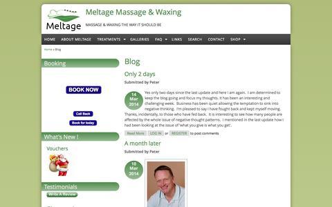 Screenshot of Blog meltage.co.uk - Blog | Meltage Massage & Waxing - captured Oct. 27, 2014
