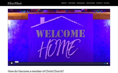 Screenshot of Signup Page christchurchusa.org - Joining Our Church Family - Christ Church - captured Sept. 28, 2018