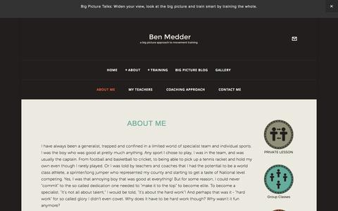 Screenshot of About Page benmedder.com - About Me — Ben Medder - captured Oct. 2, 2014