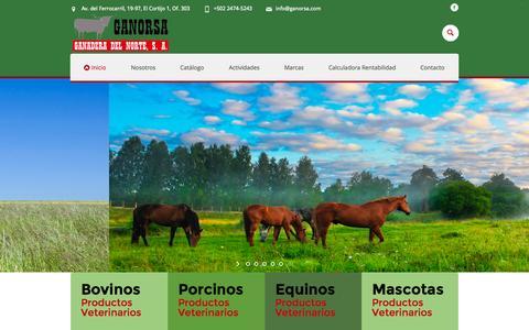 Screenshot of Home Page ganorsa.com - Inicio - Ganorsa - captured June 17, 2015