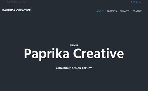 Screenshot of About Page paprikacreative.com - About - Paprika Creative - captured July 15, 2018