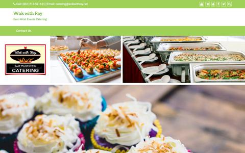 Screenshot of Home Page wokwithray.com - Wok with Ray – East-West Events Catering - captured July 12, 2018
