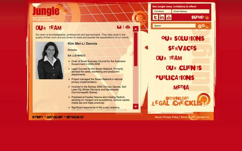 Screenshot of Team Page jungle.com.au - Jungle - Our Team - captured Oct. 6, 2014