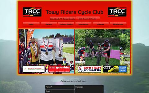 Screenshot of Contact Page towyriders.org.uk - Towy Riders Cycle Club - Contact page - captured Dec. 1, 2018
