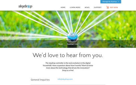 Screenshot of Contact Page skydrop.com - Contact Us | skydrop - captured Oct. 7, 2014